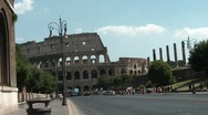 Stock Video Footage of Traffic in Rome