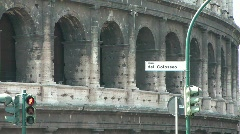 Street sign at the Colosseum Stock Footage