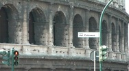 Stock Video Footage of Street sign at the Colosseum