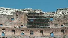 Renovation at Colosseum Stock Footage