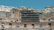 Stock Video Footage of Renovation at Colosseum
