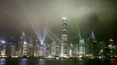 Hong Kong at night - stock footage