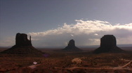 Monument Valley 08 Timelapse x40 / Grand Circle, Arizona-Utah, USA Stock Footage