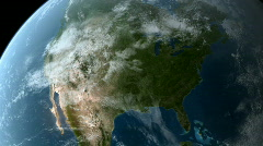Orbiting over North America HD - stock footage