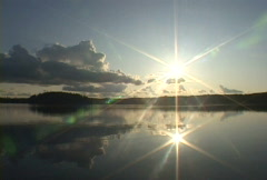 Sun Lake Time Lapse 20 seconds - stock footage