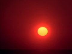 Sunrise over Ocean 640x480 Stock Footage