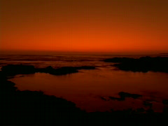 Golden Water at Sunrise 640x480 Stock Footage