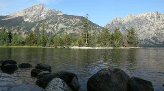 Jenny Lake in Grand Tetons National Park Stock Footage