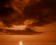 Golden Cloud Sunset PAL Stock Footage