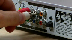 DVD Player Cables 937 - S-Video Stock Footage