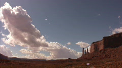 Monument Valley 15 Timelapse x20 Three Sisters / Grand Circle, Arizona-Utah, USA Stock Footage