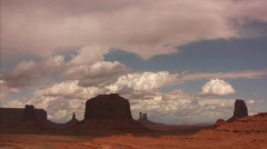 Monument Valley 16 Timelapse x40 John Ford Pt / Grand Circle, Arizona-Utah, USA Stock Footage