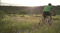 Spring Mountain Biking 3 59.94 Stock Footage
