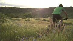 Spring Mountain Biking 3 59.94 - stock footage