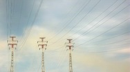 Stock Video Footage of Power Lines.