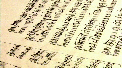 Music Sheet HD Stock Footage