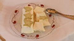 Dessert Blancmange Stock Footage