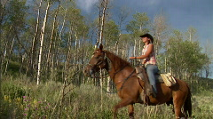 Cowgirls Western Lifestyle Aspens 7 59.94 Stock Footage