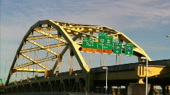 Fort Duquesne Bridge 980 Stock Footage