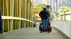 Segway Riders 979 Stock Footage