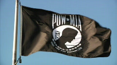 POW Flag 978 Stock Footage