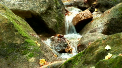 Mountain river in the woods in autumn-2 Stock Footage