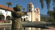 Stock Video Footage of Santa Barbara Mission