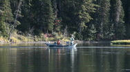 Stock Video Footage of Snake River boat fishing P HD 3314