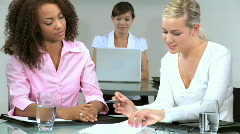 Female Business Team Stock Footage