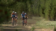 Stock Video Footage of Friends Yellowstone Biking 1 59.94