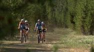 Stock Video Footage of Friends Yellowstone Biking 1 59.94