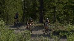 Friends Yellowstone Biking 2 59.94 Stock Footage
