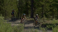 Stock Video Footage of Friends Yellowstone Biking 2 59.94