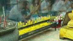 thai pray 2 - stock footage