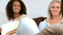 Female Friendship Stock Footage