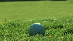 Golf Ball Hit - stock footage