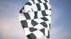 Real Checkered Flag Waiving - stock footage