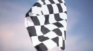 Real Checkered Flag Waiving Stock Footage