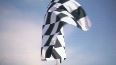 Real Checkered Flag Waiving 2 - stock footage