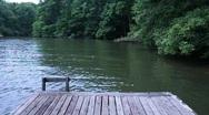 Wood dock water Stock Footage