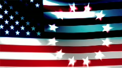 Betsy Ross American Flag and Circle of Stars Stock Footage