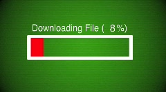 Stock Video Footage of Computer File Download Progress Bar