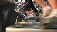 Fitness Ellipticals Stock Footage