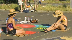Street Artists Stock Footage