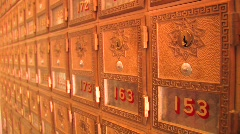 Old Mailboxes Stock Footage