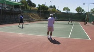 Tennis Match Stock Footage