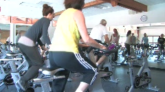 Women in Spin Class Stock Footage