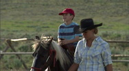 Child on Pony Ride Horse 5 59.94 Stock Footage