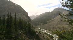 Glacial valley, #5 light summer rain shower Stock Footage