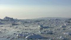 Ilulissat icebergs time lapse - stock footage